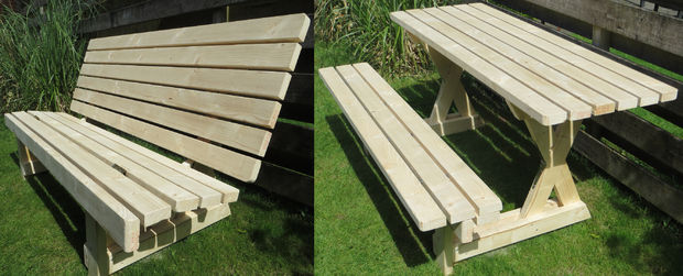 50 free diy picnic table plans for kids and adults this picnic table can be either a bench or a picnic table it is very unique in its design though basically you can have a simple bench meant to hold 2 3 watchthetrailerfo