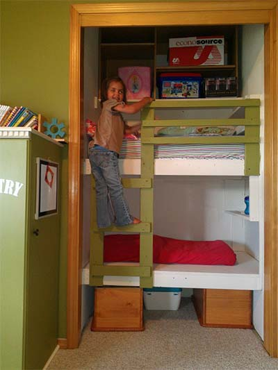 The Built In Bunk Bed Plans
