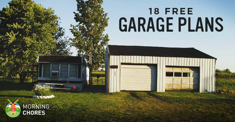 18 Free DIY Garage Plans with Detailed Drawings and Instructions – 28X32 Garage Plans