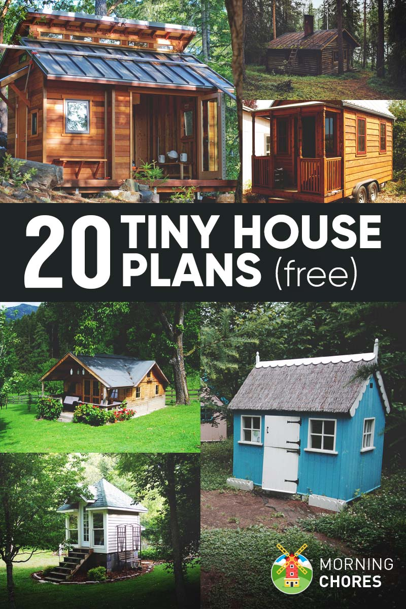 20 free diy tiny house plans to help you live the small for Free farmhouse plans