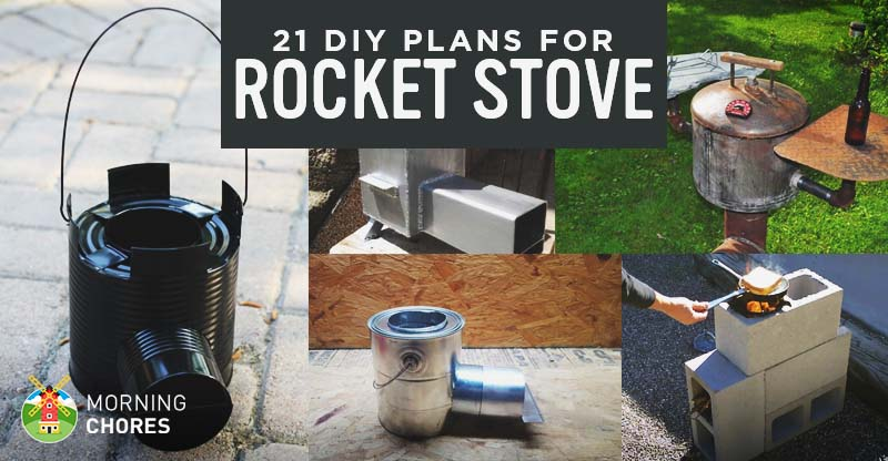 21 free diy rocket stove plans for cooking efficiently with wood solutioingenieria Image collections