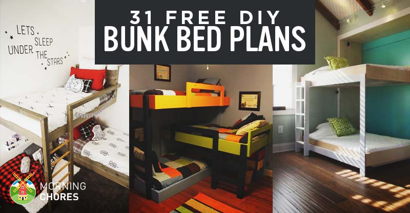31 diy bunk bed plans ideas that will save a lot of for Build a bedroom online