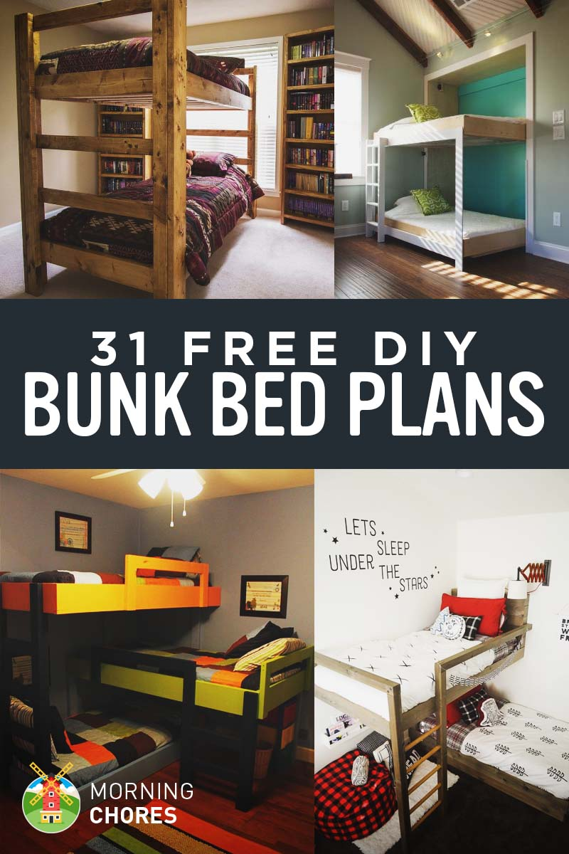 31 Free DIY Bunk Bed Plans for Kids and Adults  Ideas that Will Save a Lot of Bedroom Space