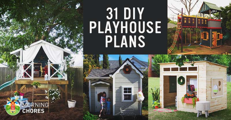 31 free diy playhouse plans to build for your kids 39 secret for Plans to build a house