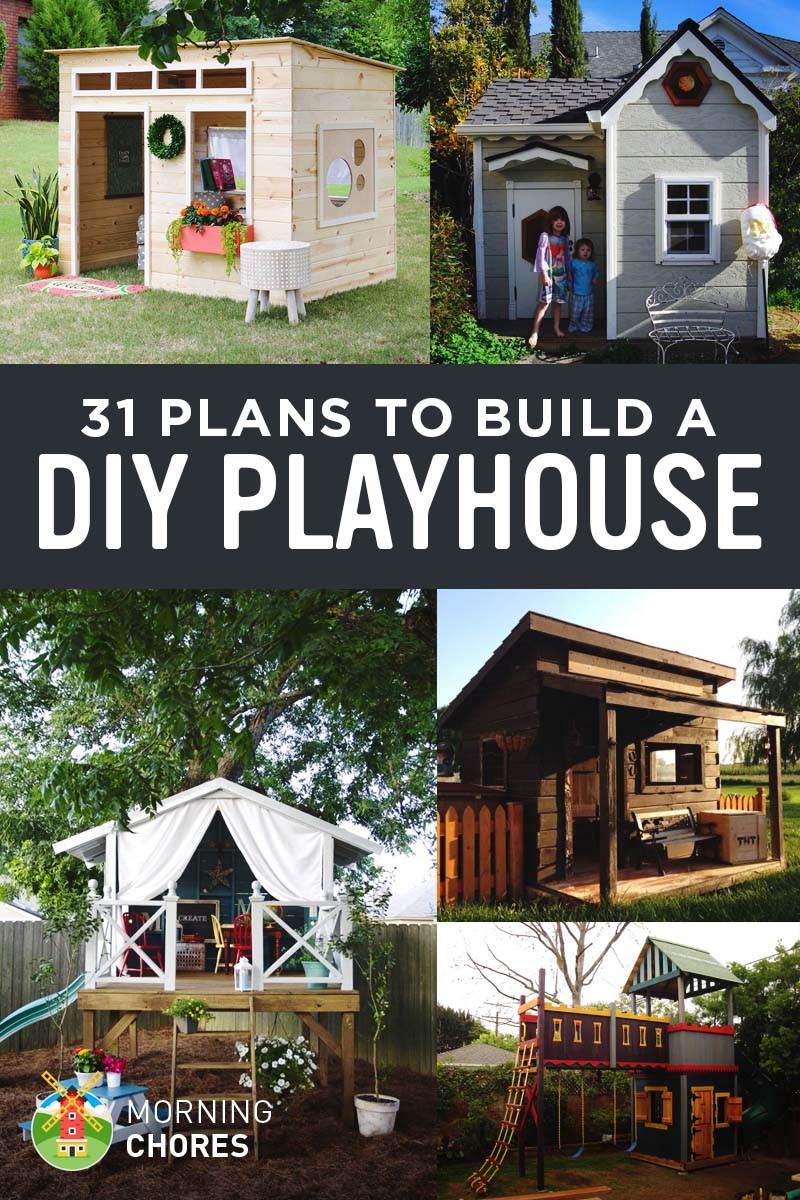 31 free diy playhouse plans to build for your kids secret hideaway rh morningchores com