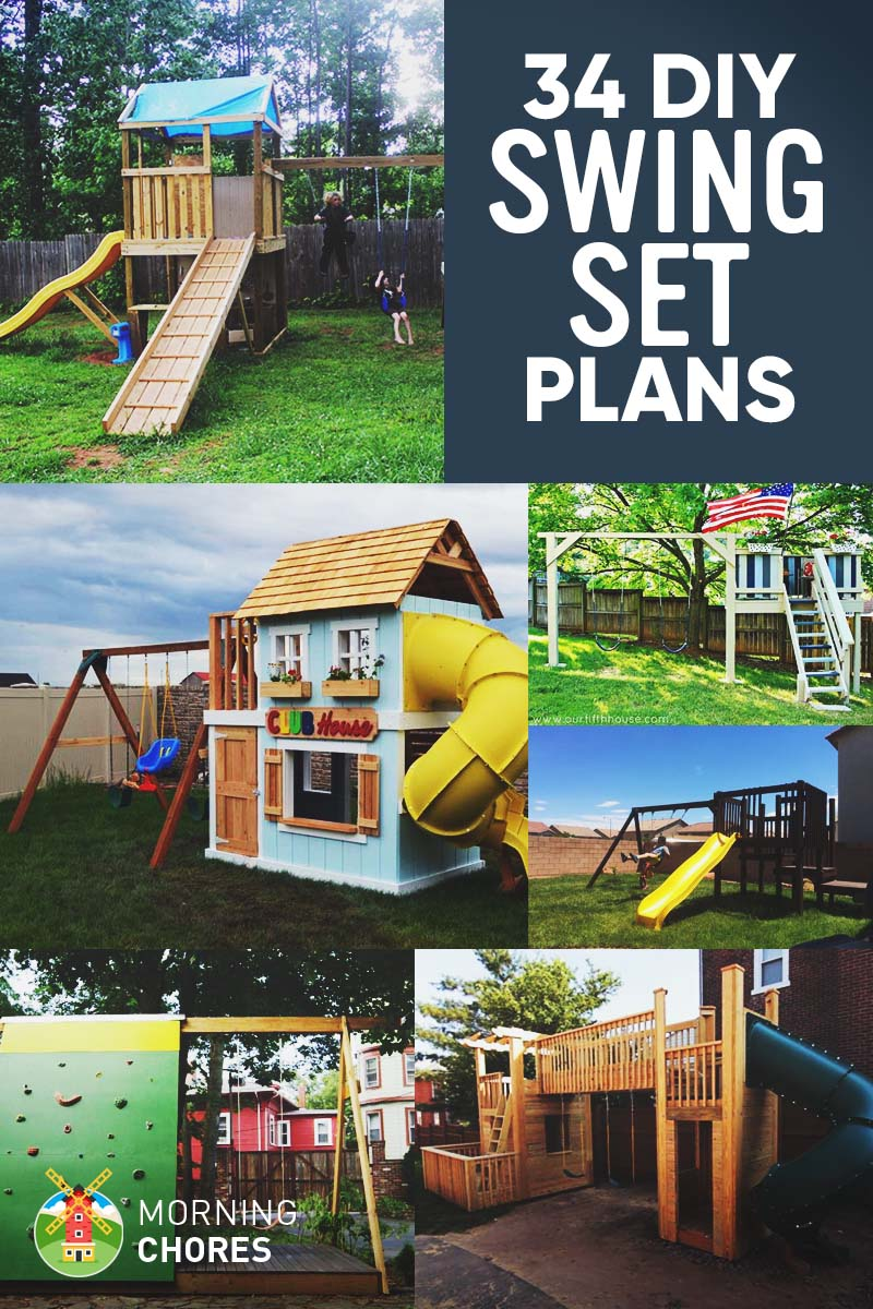 Backyard Play 34 free diy swing set plans for your kids' fun backyard play area