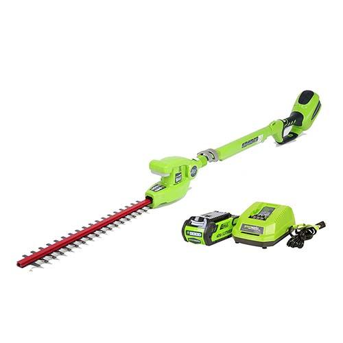 Greenworks 22272 G Max 40v 20 Inch Cordless Pole Hedge Trimmer