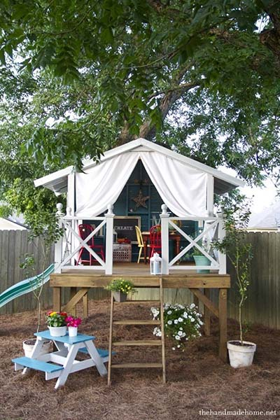 Captivating Playhouse Hideaway Plans