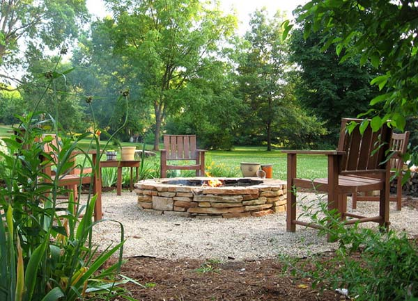 Stacked Stone Fire Pit Plans