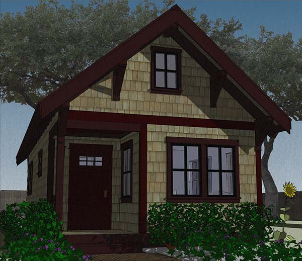 This House Plan Is Similar To The One Listed Above. However, It Was  Modified To Be More Suitable As A Guest Home In Your Backyard.