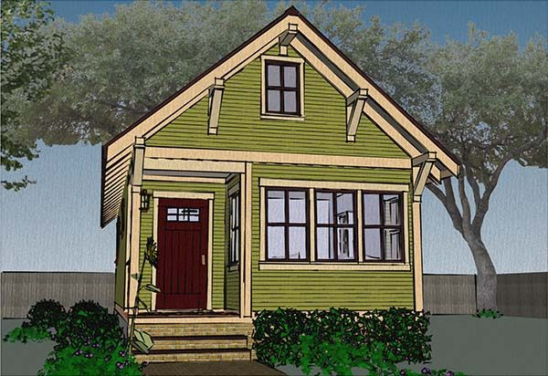 This Tiny House Goes A Little Smaller Than The Previous Plans Mentioned.  This House Comes In At 480 Square Feet.