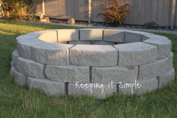 this fire pit is totally simple she gives you a great materials list and the price she paid for each item on the list this is a great thing to have - Firepit Ideas