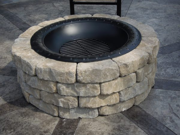 This Fire Pit Is Another Easy Design To Make It Also A Circular And Said Cost Around 80 Complete The Project