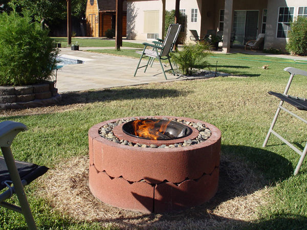 diy patio with fire pit. This Fire Pit Is Unique And Inexpensive. According To The Post, It Should Cost Around $50 Complete It. But Instead Of Building Out Plain Diy Patio With