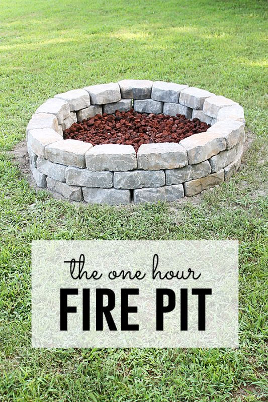 How to make a cool backyard fire pit out of bricks