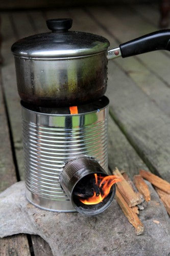 You've probably seen in the movies that when people who travel the railway (often called Hobos) would eat, they'd place their pot over a rocket stove to ...