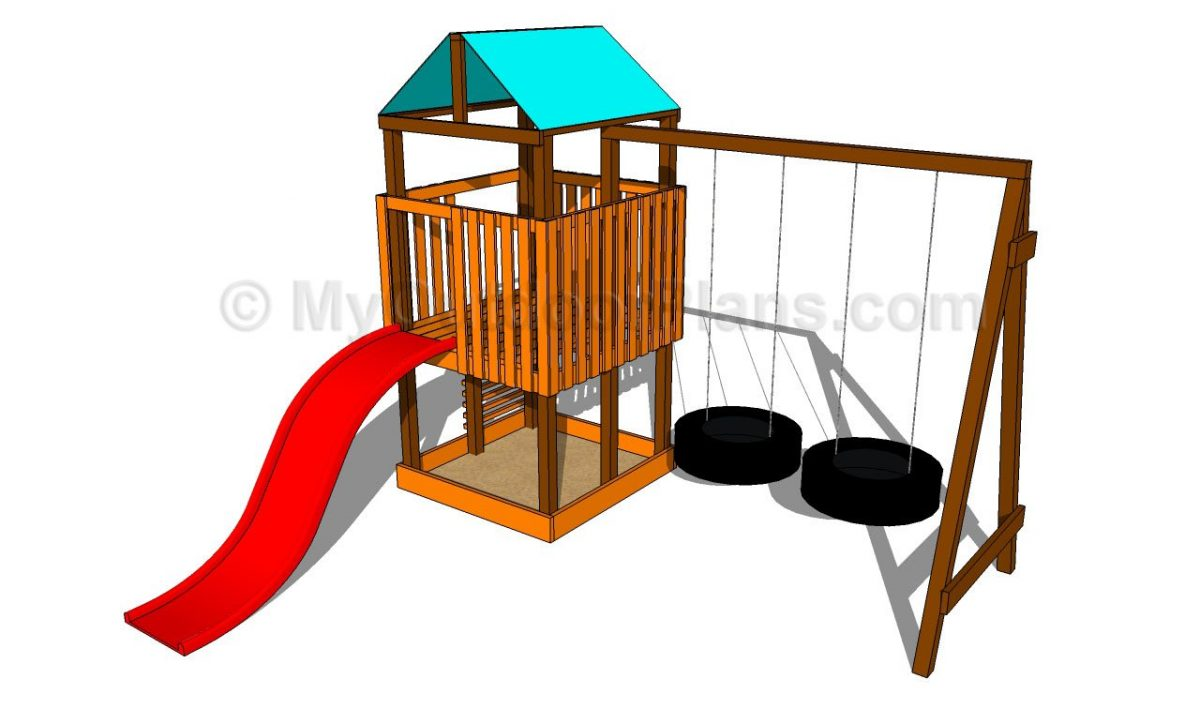 34 free diy swing set plans for your kids 39 fun backyard for Child swing plans free