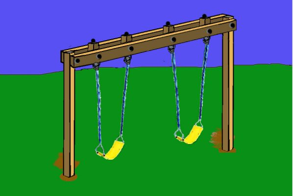 34 free diy swing set plans for your kids 39 fun backyard for Building a swing set from scratch