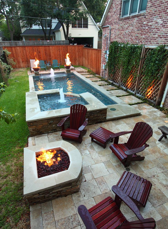 30 small backyard ideas that will make your backyard look big for Pool design ideas for small backyards
