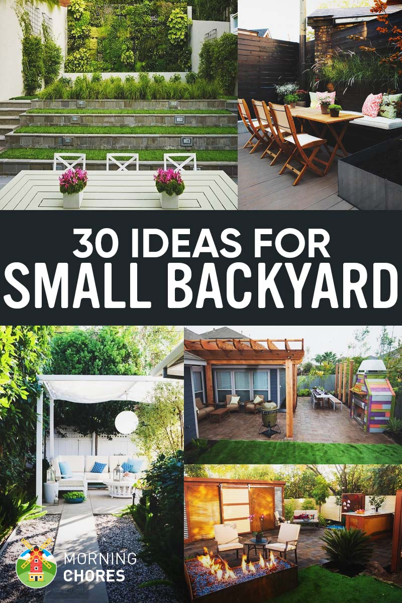 Ideas For The Backyard 30 small backyard ideas that will make your backyard look big