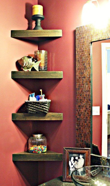 Merveilleux Bathroom Ideas Corner Shelf