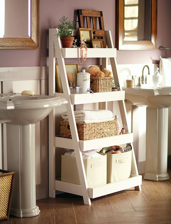 Charmant Bathroom Ideas Recycle Ladder
