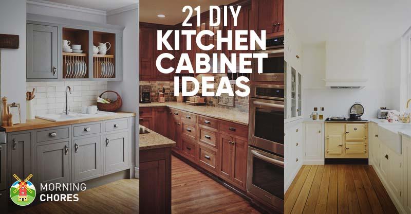 diy ideas for kitchen cabinets 21 diy kitchen cabinets ideas amp plans that are easy 14902