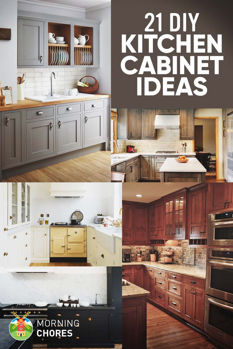 Kitchen Cabinet Remodel Ideas: 21 DIY Kitchen Cabinets Ideas & Plans That Are Easy