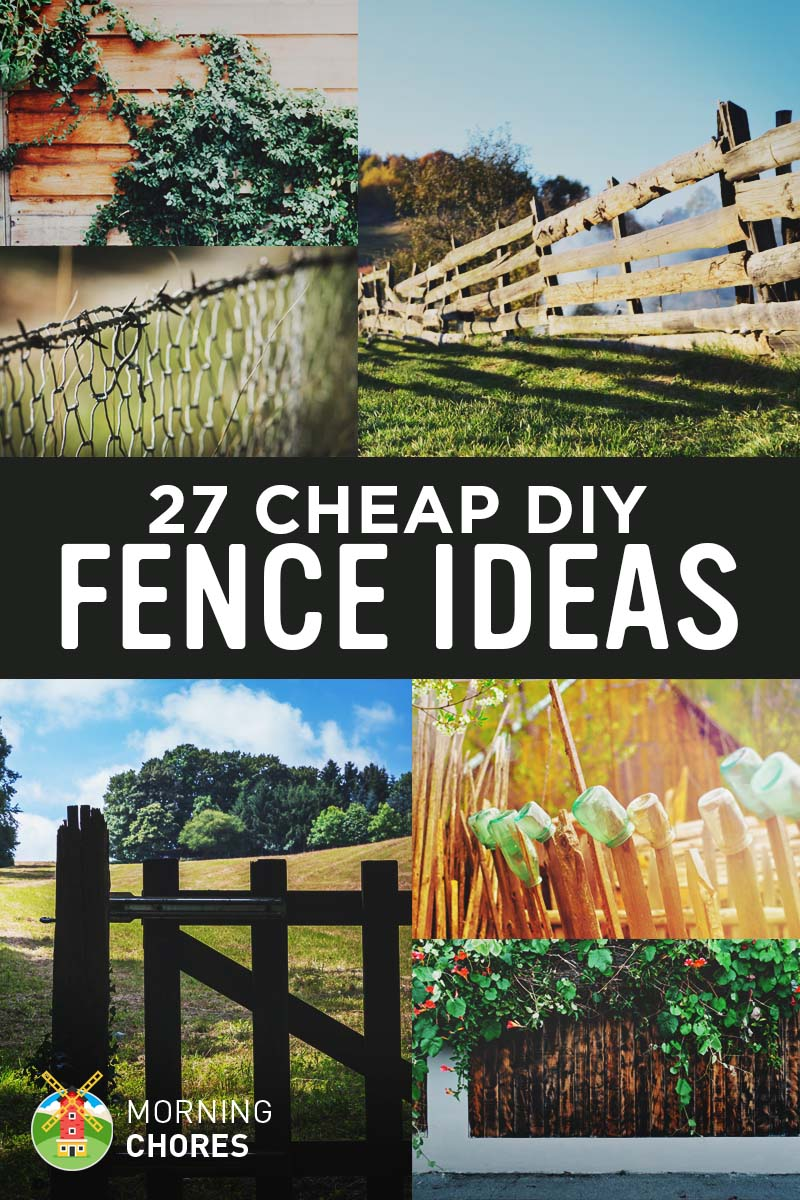 27 cheap diy fence ideas for your garden privacy or for Cheapest way to build a house yourself