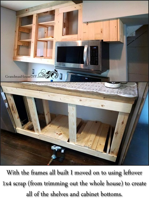 21 diy kitchen cabinets ideas plans that are easy cheap to build how one person built all of their kitchen cabinets solutioingenieria Image collections