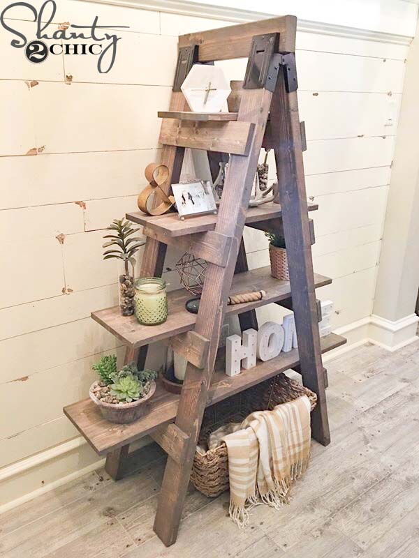 This Bookshelf Is Amazing I Love How Rustic It Looks And That They Upcycled An Older Item To Make Something New Useful