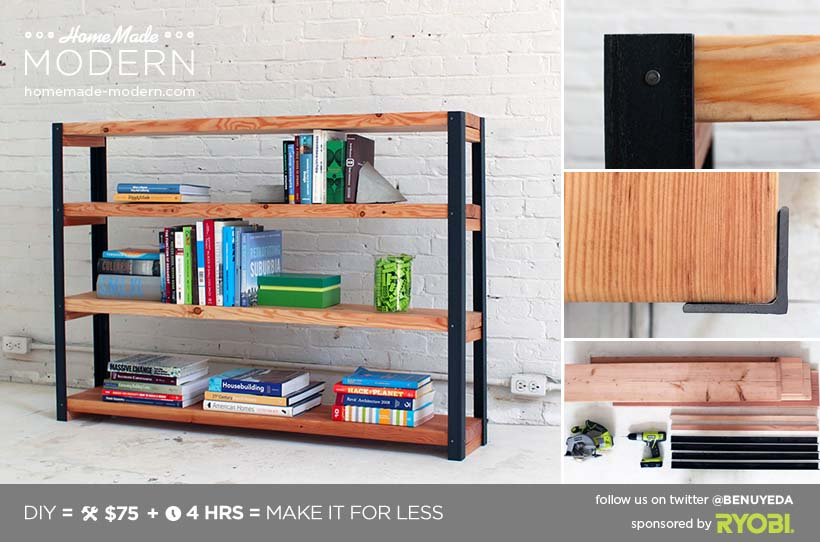 6 Ironbound Bookcase