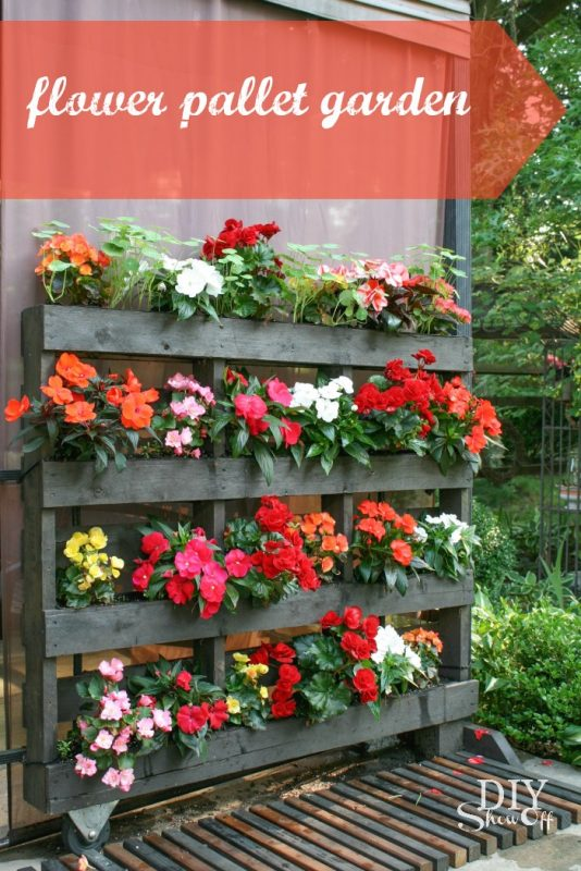 43 gorgeous diy pallet garden ideas to upcycle your wooden pallets do you love to grow flowers would you love to have a neat way to display those flowers that wont cost you a fortune ccuart Images