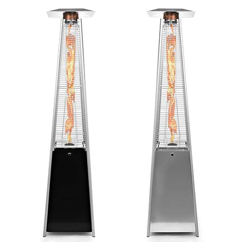 This very stylish freestanding propane gas outdoor heater from Thermo Tiki  stands at 7.5 feet tall, and with 38,000 BTU's of heating power, it is the  ideal ... - 7 Best Outdoor Patio Heater: Reviews & Buying Guide