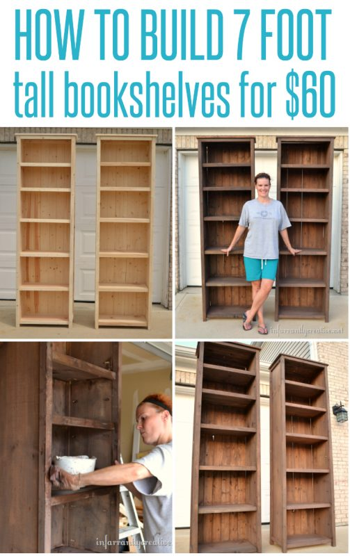 Did You Ever Imagine That Could Build 7 Foot Tall Bookshelves For Only 60 Well According To This Site It Might Be A Possibility