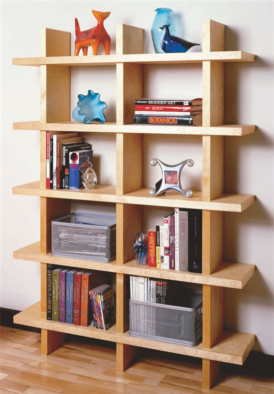 contemporary bookcase - Large Bookshelves