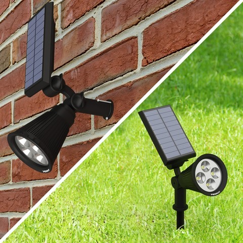 The Hoont Solar Powered LED Spotlight Is The Perfect Choice For Lighting Up  Those Dark Areas Around Your Property Like Walkways, A Porch, ...