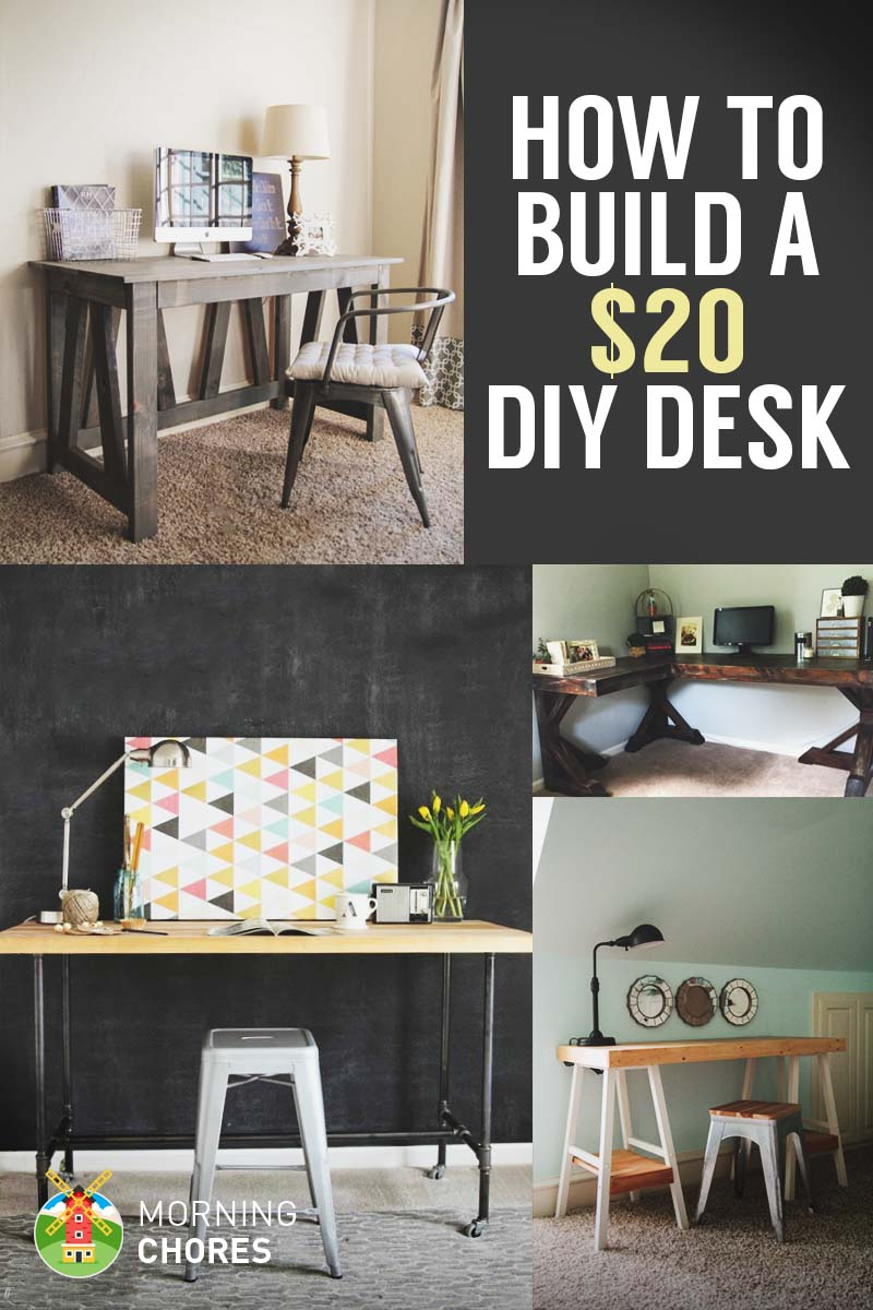 How to build a desk for 20 bonus 5 cheap diy desk plans ideas solutioingenieria Images