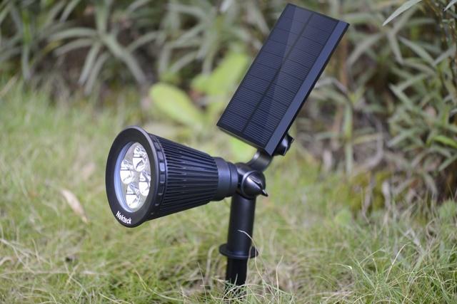 Nekteck Solar Powered Garden Spotlight Set