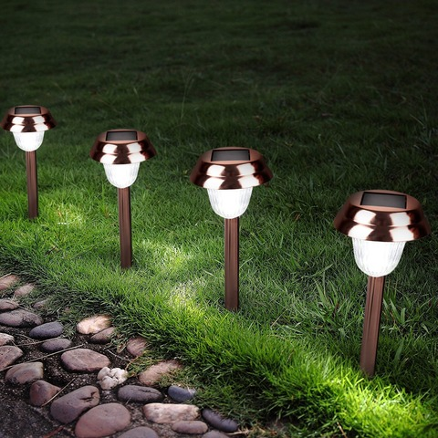 Lanterns Strong-Willed High Quality Waterproof Led Solar Power Outdoor Garden Path Light Yard Lawn Road Spot Lamp Home & Garden