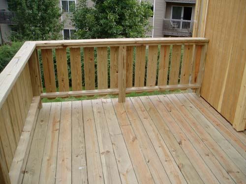 This Railing Is An Updated Version Of The Regular Spindles That Most People  Put On Their Deck. Yet, They Add A Nice Modern Feel To A Deck.