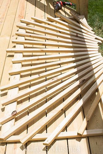 I Shared With You A Tutorial To Create This Look Already, But Here Is  Another Glance At A Sunburst Deck Railing Design.
