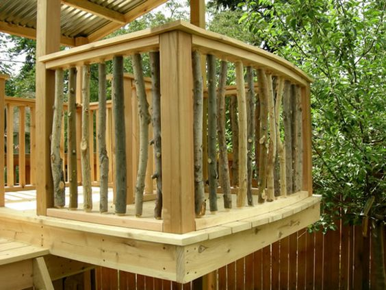 This Is Another Really Neat Idea For Deck Railing You Build The As Usual Then Fill In Branches Place Of Normal Spindles