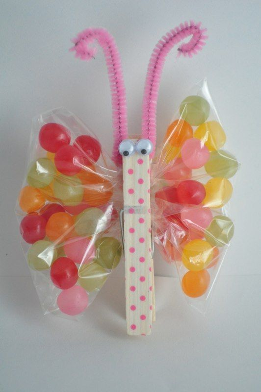 47 creative easy diy easter crafts for your kids to make with you 18 jelly bean butterfly negle Images