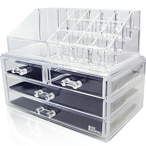 Ikee Design Acrylic Jewelry Cosmetic Storage Display Boxes
