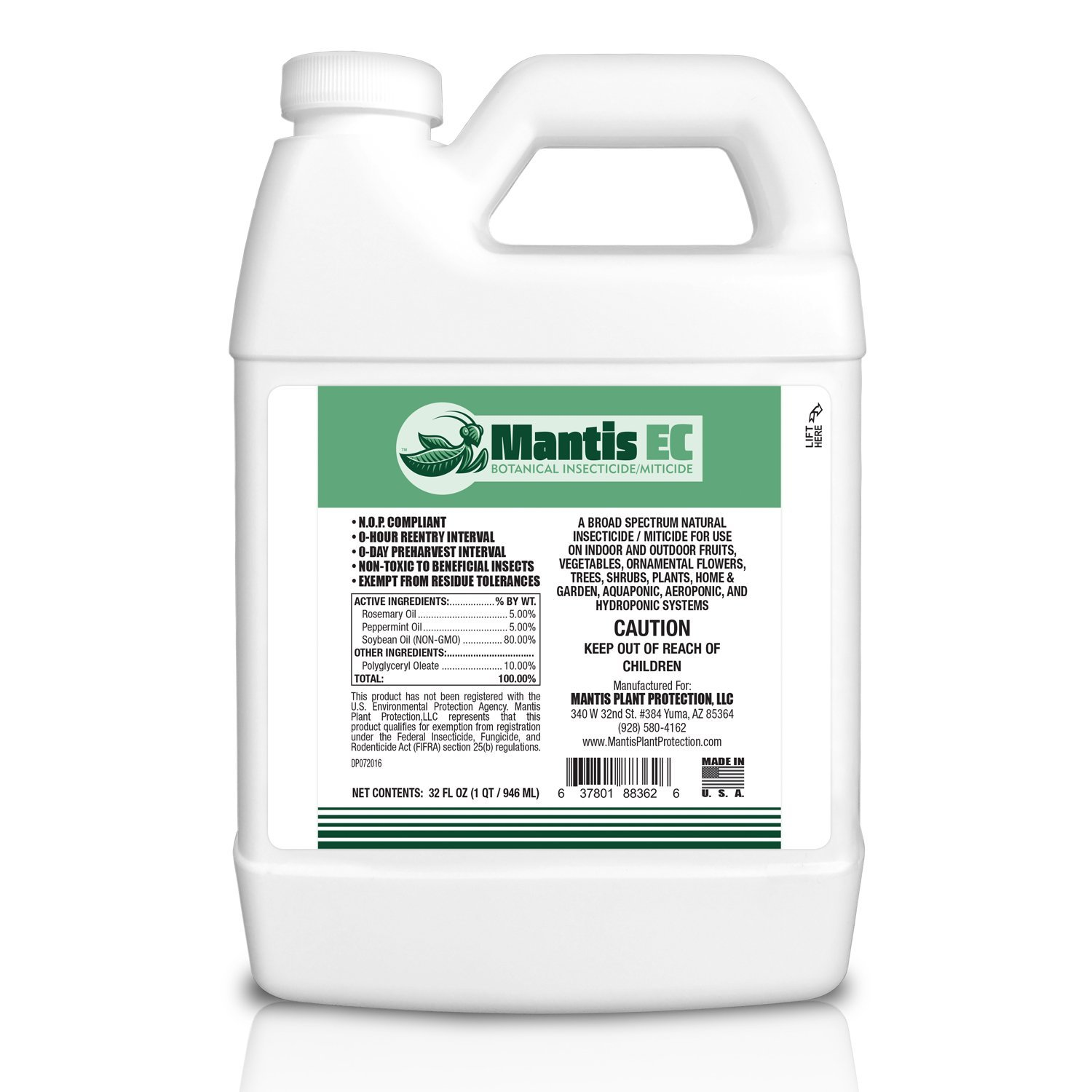 Mantis EC Botanical Insecticide Miticide Concentrate