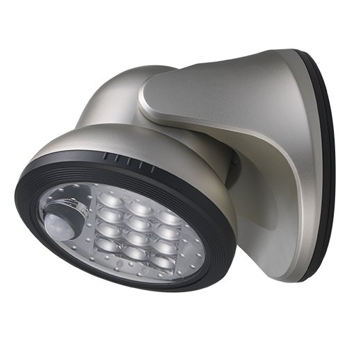 LIGHT IT! by Fulcrum Wireless Motion Sensor Silver Porch Light