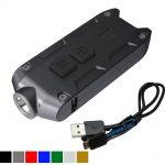 Nitecore TIP BLACK 360 Lumens USB Rechargeable Keychain Flashlight