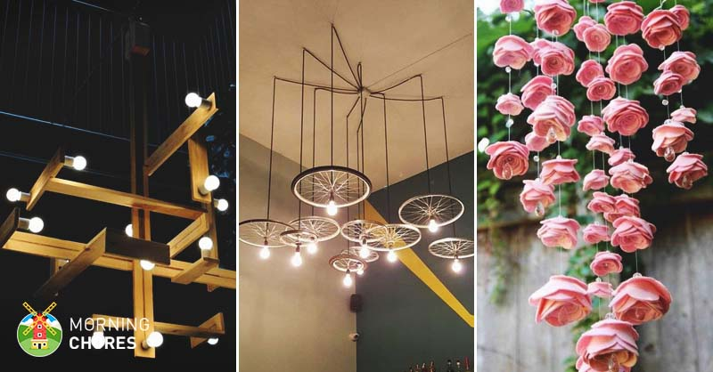 34 beautiful diy chandelier ideas that will light up your home mozeypictures Image collections
