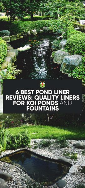 6 best pond liner reviews quality liners for koi ponds for Koi pond water quality
